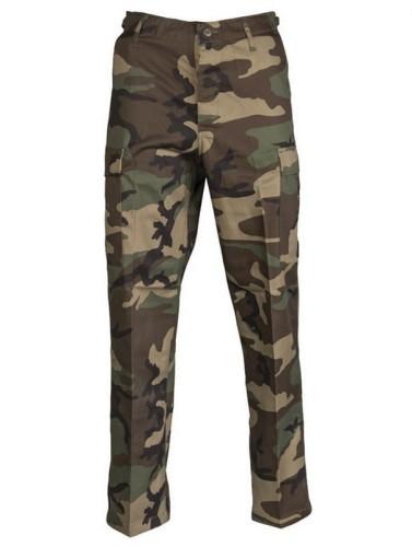 Spodnie bojówki taktyczne US Ranger BDU Schwarz Woodland moro M